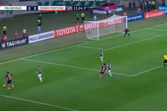 Palmeiras vs Cerro Porteño: Arzamendia anota golazo para el 1-0 en octavos de Copa Libertadores 2018 [VIDEO]