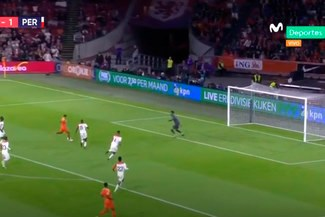 Perú vs Holanda: Memphis Depay anotó el 1-1 tras error en salida de la 'Bicolor' [VIDEO]