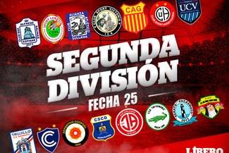 Segunda División: resultados y tabla de posiciones tras la fecha 25