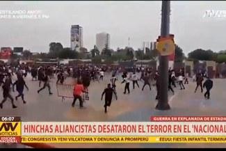 Nuevas imágenes del enfrentamiento entre Hinchas de Alianza Lima en el Estadio Nacional [VIDEO]