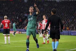 Con gol de Kane, Tottenham rescató un punto de oro en su visita al PSV por la Champions League [RESUMEN Y GOLES]