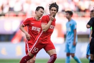 Alexandre Pato anotó un golazo en el 1-0 del Tianjin Quanjian sobre Guangzhou R&F por la liga china [VIDEO]