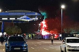 ¡ÚLTIMA HORA! Helicóptero del dueño del Leicester se estrelló saliendo del King Power Stadium [FOTOS Y VIDEO]