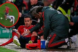 Thiago Alcántara se rompió el ligamento del tobillo jugando la Copa Alemana [VIDEO]