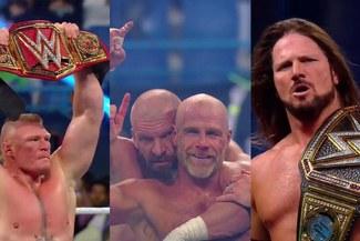 WWE Crown Jewel: Brock Lesnar,  D-Generation X y AJ Styles los ganadores del evento [VIDEOS]