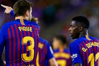 """Piqué y su duro comentario a Dembélé: """"El fútbol son 24 horas"""""""