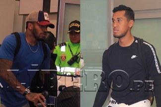 Jefferson Farfán y Renato Tapia llegaron a Lima para los amistosos con Ecuador y Costa Rica [VIDEO]