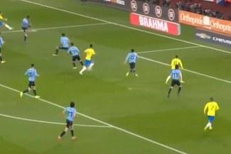 Brasil vs Uruguay: Neymar celebró gol para el 1-0, pero fue anulado [VIDEO]