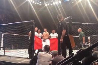 UFC Argentina: Jesús Pinedo celebró su victoria con la bandera de Perú [VIDEO]