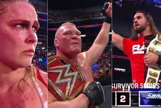 WWE Survivor Series: Brock Lesnar, Ronda Rousey y Seth Rollins protagonistas de la masacre a RAW [VIDEO]