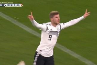 Alemania vs Holanda: Timo Werner marcó golazo para poner el 1-0 [VIDEO]