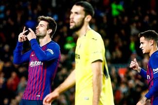 ¡Dio un Piquetazo! Gerard Piqué le dio la victoria al Barcelona por la Liga Santander