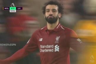 Liverpool vs Wolves: Mohamed Salah marcó con categoría el 1-0 por la Premier League [VIDEO]
