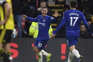 Con doblete de Hazard, Chelsea venció 2-1 a Watford en el Boxing Day de la Premier League [RESUMEN Y GOLES]