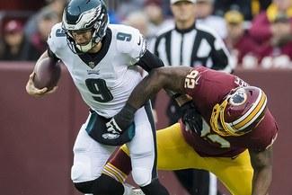 Philadelphia Eagles venció 24-0 a Redskins y logró agónica clasificación a Playoffs de NFL
