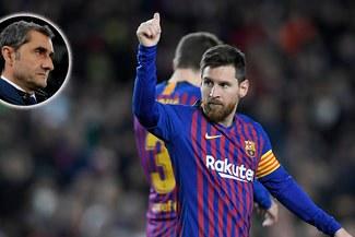 """Valverde, tras los 400 de Messi en LaLiga: """"Sus números son estratosféricos"""""""