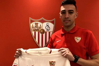 """Munir le deja su """"chiquita"""" al Barcelona: """"Estoy muy contento de jugar en el Sevilla"""""""