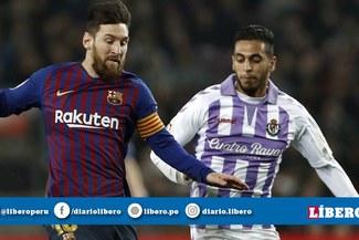 Barcelona ganó 1-0 a Valladolid y sigue en lo más alto de la tabla