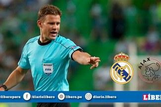 UEFA designó árbitro para el Real Madrid vs Ajax por los octavos de final de la Champions League
