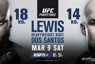 UFC EN VIVO ONLINE   Lewis vs. Dos Santos, pelea estelar del UFC Fight Night Kansas   Canales y horarios