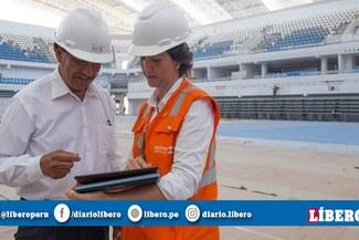 Juegos Panamericanos 2019: Inspeccionan obras del coliseo Miguel Grau en Callao