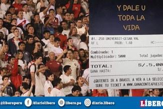 ¡Más piña! Apuesta 5 mil soles a Universitario que luego cayó goleado por la César Vallejo