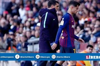 ¡De malas! Coutinho se lesiona y empeora su situación en el Barcelona