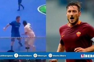 Francesco Totti y su magistral respuesta a una 'bicicleta' en partido de futsal [VIDEO]
