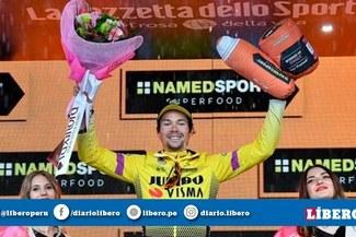 Primoz Roglic destrozó la cronoescalada tras ganar la novena jornada del Giro de Italia