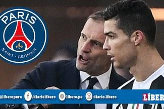 ¡Una verdadera bomba! PSG quiere contratar a Cristiano Ronaldo y Massimiliano Allegri