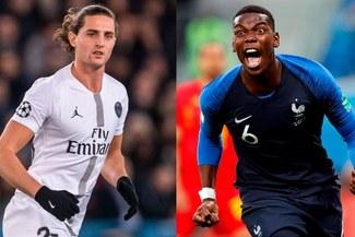 Juventus admite interés en Adrien Rabiot y Paul Pogba