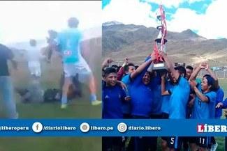 Copa Perú: Batalla campal en gran final por la Etapa Provincial de Arequipa [VIDEO]