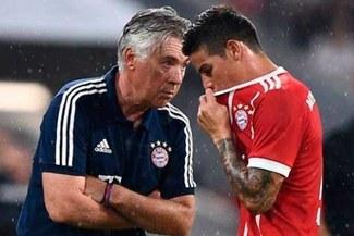 """Carlo Ancelotti """"Lamentablemente James todavía no es un jugador del Nápoles"""""""