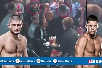 ¡Nate Diaz y Khabib casi se van a los golpes en el UFC 239! [VIDEO]