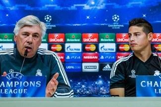 Ancelotti, contundente sobre rumores que aseguran que James Rodríguez ya es del Atlético