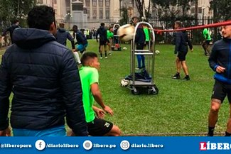 Zulia FC entrenó en un conocido parque antes de eliminar a Sporting Cristal