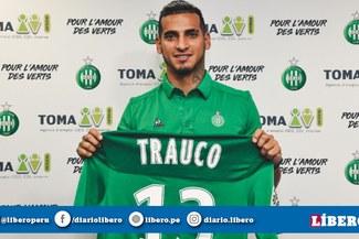 Usará la 13: Miguel Trauco fue presentado de manera oficial en el Saint Etienne