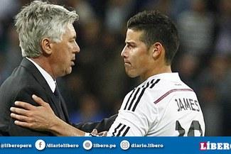 Carlo Ancelotti habló sobre la posibilidad de contratar a James Rodríguez