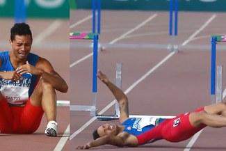 Lima 219: Juander Santos peleaba por el oro en 400m, se cayó en la última valla y tuvo desconsolador llanto [VIDEO]