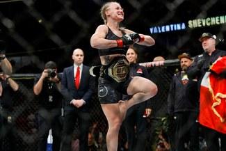 UFC: ¡Valentina, nomás! Shevchenko se vengó de Carmouche y retuvo cinturón en Uruguay [VIDEO]