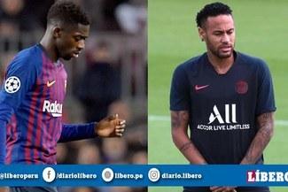 Lesión de Dembélé complica seriamente el pase de Neymar al Barcelona