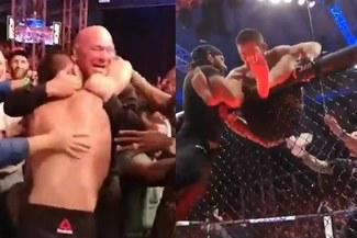 Khabib saltó de la jaula para abrazar al jefe de UFC [VIDEO]