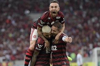 Flamengo venció 1-0 a Santos con Christian Cueva y es líder del Brasileirao [RESUMEN Y GOL]