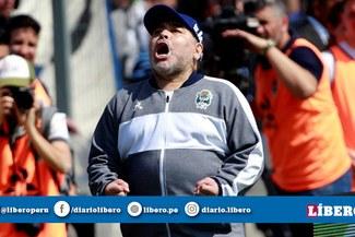 """Maradona, tras la derrota ante Racing Club: """"Me duele en el alma"""""""