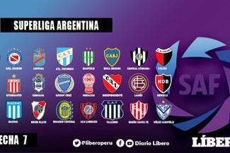 Superliga Argentina [EN VIVO] tabla de posiciones, resultados y partidos de la fecha 7