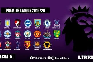 Premier League [EN VIVO]: programación, horarios, canales y tabla de la fecha 6