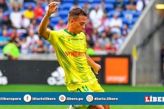 Cristian Benavente participó en la victoria del Nantes, que mete miedo al PSG [VIDEO]