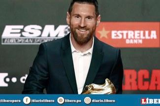El máximo goleador de Europa: Lionel Messi recibe su sexta 'Bota de Oro'