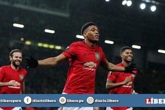 Manchester United vs Partizan: ¡A pura máquina! Anthony Martial anotó un tremendo golazo
