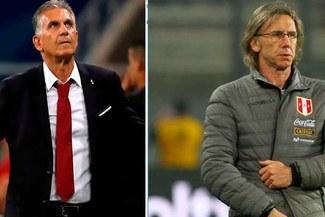 Perú vs Colombia: Duelo aparte entre Ricardo Gareca y Carlos Queiroz